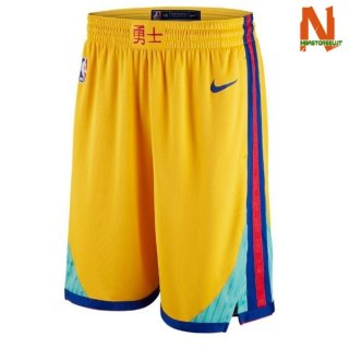 Vendite Pantalonii NBA Golden State Warriors Giallo Città