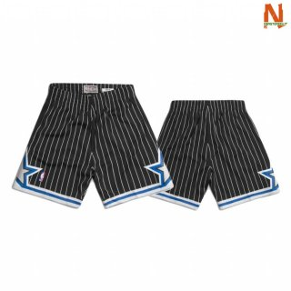Vendite Pantalonii NBA Orlando Magic Mitchell & Ness Nero Hardwood Classics
