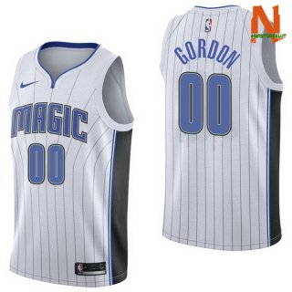 Vendite Maglia NBA Orlando Magic NO.0 Aaro Gordon Bianco Association 2017-18