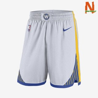 Vendite Pantalonii NBA Golden State Warriors Nike Bianco