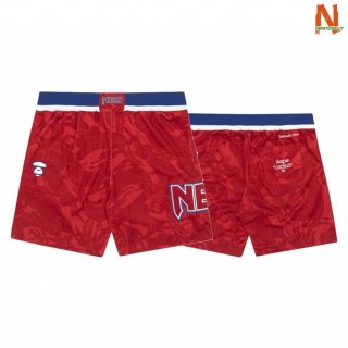 Vendite Pantalonii NBA Brooklyn Nets AAPE x M&N Red 2020