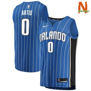Vendite Maglia NBA Orlando Magic NO.0 Jamel Artis Blu Icon 2017-18