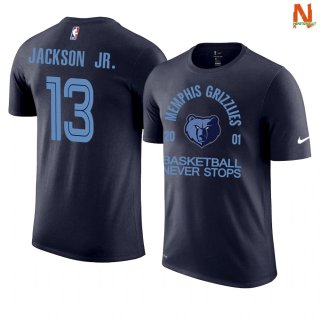Vendite T-Shirt NBA Memphis Grizzlies Never Stops NO.13 Jarent Jackson Marino