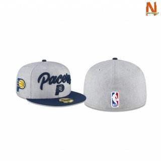 Vendite Cappelli NBA Indiana Pacers Heather OTC Hat 59FIFTY Fitted Grigio 2020