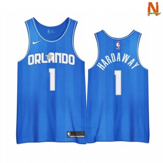 Vendite Maglia NBA Earned Edition Orlando Magic NO.1 Penny Hardaway Blu 2020-21