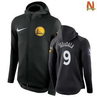 Vendite Felpe Con Cappuccio NBA Golden State Warriors NO.9 Andre Iguodala Nero
