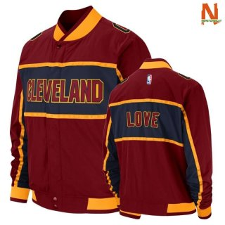 Vendite Giacca NBA Cleveland Cavaliers NO.0 Kevin Love Red Icon 2020