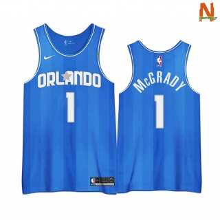 Vendite Maglia NBA Earned Edition Orlando Magic NO.1 Tracy Mcgraydy Blu 2020-21