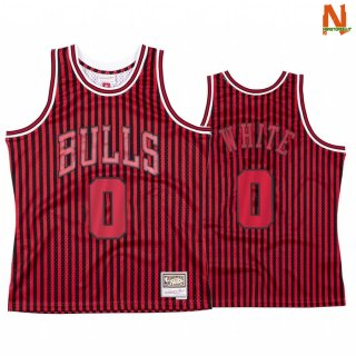 Vendite Maglia NBA Chicago Bulls Independence Day NO.0 Coby White Rosso Hardwood Classics