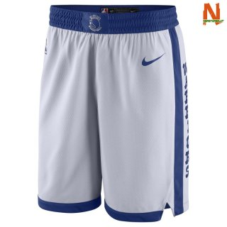 Vendite Pantalonii NBA Golden State Warriors Nike Retro Bianco