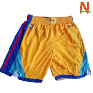 Vendite Pantalonii NBA Golden State Warriors Nike Giallo