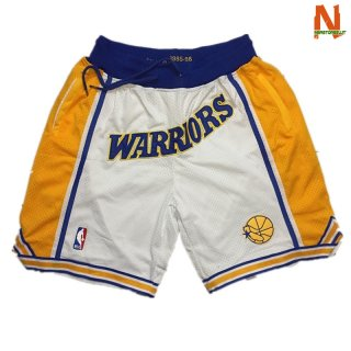 Vendite Pantalonii NBA Golden State Warriors Curry Bianco