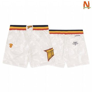 Vendite Pantalonii NBA Golden State Warriors AAPE x M&N Warriors Bianco 2020
