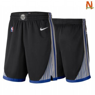 Vendite Pantalonii NBA Golden State Warriors Nike Nero Città 2019-20