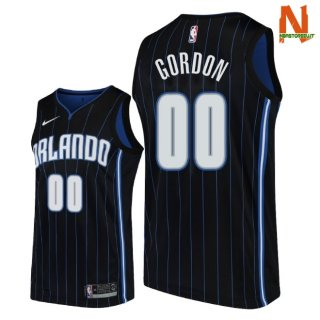 Vendite Maglia NBA Orlando Magic NO.0 Aaro Gordon Nero Statement 2018