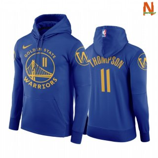 Vendite Felpe Con Cappuccio NBA Golden State Warriors NO.11 Kaly Thompson Blu