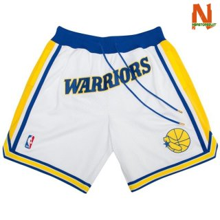 Vendite Pantalonii NBA Golden State Warriors Retro Bianco 2018