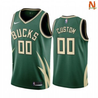 Vendite Maglia NBA Earned Edition Milwaukee Bucks NO.00 Rodion Kurucs Bianco 2021