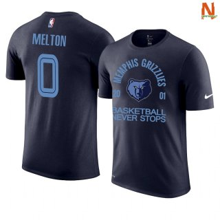 Vendite T-Shirt NBA Memphis Grizzlies Never Stops NO.0 De'Anthony Melton Marino
