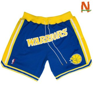 Vendite Pantalonii NBA Golden State Warriors Retro Blu 2018