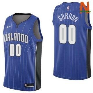Vendite Maglia NBA Orlando Magic NO.0 Aaro Gordon Blu Icon 2017-18