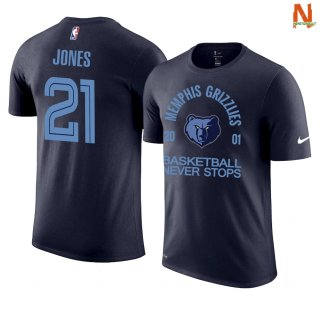 Vendite T-Shirt NBA Memphis Grizzlies Never Stops NO.21 Tyus Jones Marino