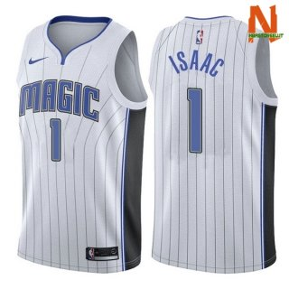 Vendite Maglia NBA Orlando Magic NO.1 Jonathan Isaac Bianco Association 2017-18