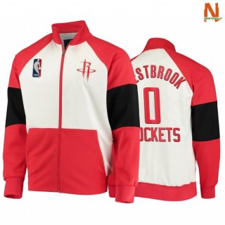 Vendite Giacca NBA Houston Rockets NO.0 Russell Westbrook Red 2020