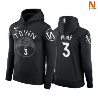Vendite Felpe Con Cappuccio NBA Golden State Warriors NO.3 Jordan Poole Nero