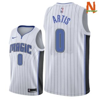 Vendite Maglia NBA Orlando Magic NO.0 Jamel Artis Bianco Association 2018