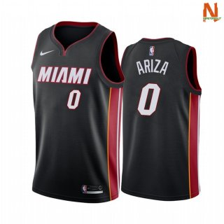 Vendite Maglia NBA Miami Heat NO.0 Trevor Ariza Nero Statement 2021